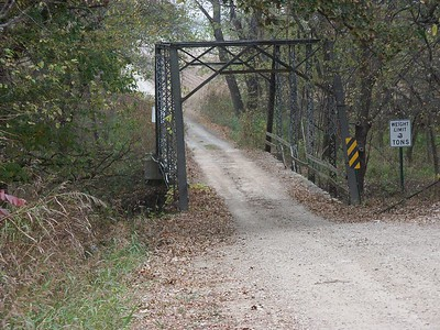 Eight Mile Creek iron truss bridge - Butler / Cowley county line