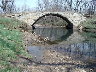 Badger Creek stone bridge - Cowley County Kansas