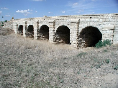Masonry arch bridge near Richfield - Morton County, Kansas