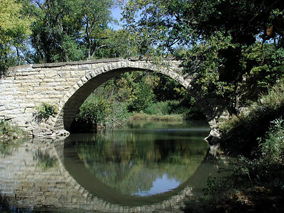 Grouse Creek stone bridge near Cambridge - Cowley County Kansas