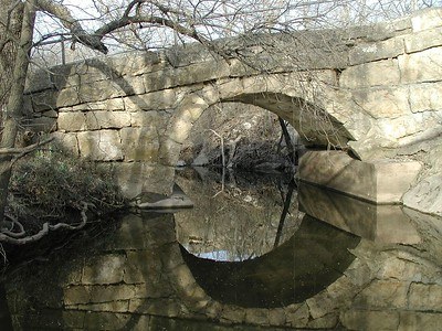 Stone arch bridge over Rock Creek - Butler County, Kansas
