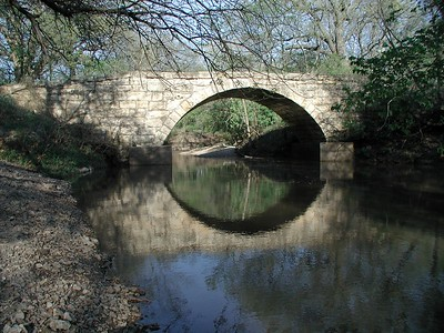 Harrison Creek stone bridge - Butler County Kansas