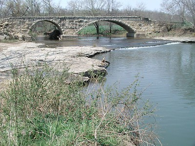 Silver Creek stone bridge - Cowley County Kansas