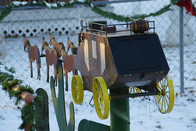 Stagecoach mailbox in Bentley Kansas