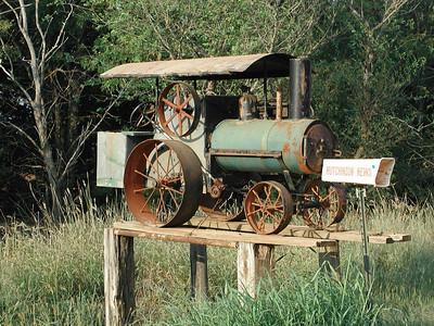 Steam tractor mailbox - Kingman County