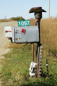 Cowboy mailbox - Morris County