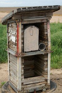 """Mailbox built into """"building"""" - Gray County"""