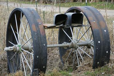 Steel Wheels mailbox - Sedgwick County