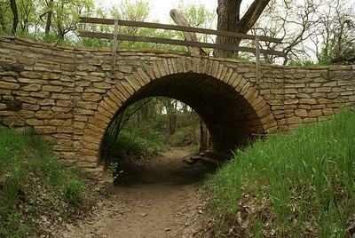 Stone arch bridge at Rice