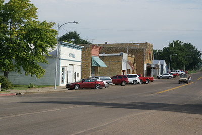 Business district in Sylvan Grove