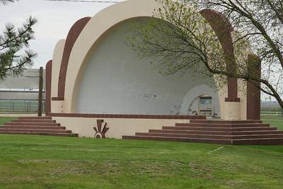 Bandshell in Belleville park built as a WPA project