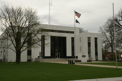 Republic County Courthouse in Belleville. Built 1939 as WPA project