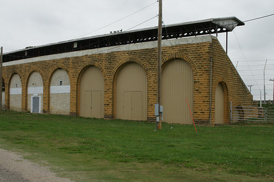 Limestone grandstand at High Banks racetrack in Belleville