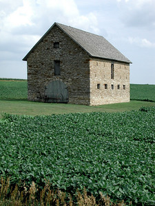 Stone building in rural Brown County