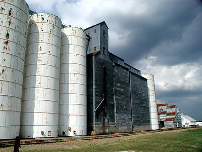 Grain elevators in Robinson - Brown County, Kansas