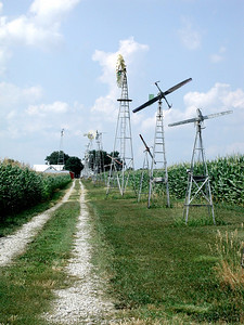 Windmill lane at Brown County Ag Museum in Hiawatha