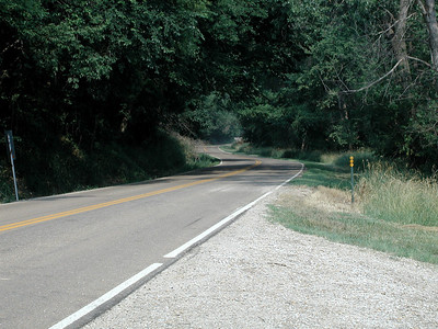 Kansas Highway 7 (Glacial Hills Scenic Byway) north of White Cloud