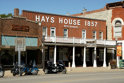 Hays House Restaurant in Council Grove. Oldest continuously operating restaurant west of Mississippi River.
