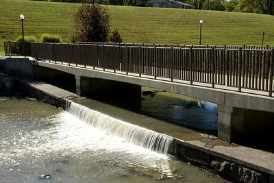 Dam along Neosho River in Council Grove