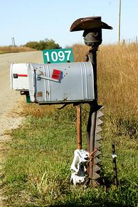Mailbox art in rural Morris County