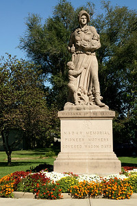 Madonna of the trail statue in Council Grove
