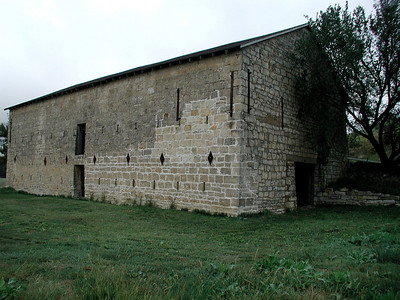 Historic old limestone barn in eastern Council Grove
