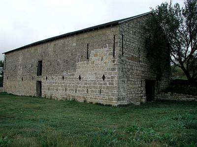 Historic old limestone barn in eastern Council Grove