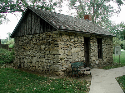 Re-creation of Kaw Indian house in Council Grove