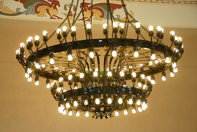 Chandelier inside Great Overland Station