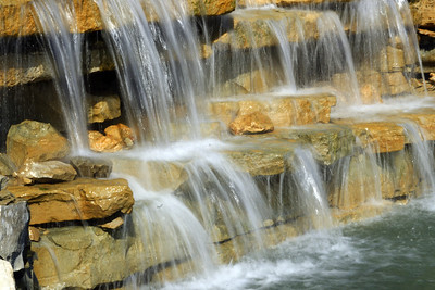 Waterfall at Washburn University campus