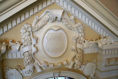 Elegant plasterwork inside Great Overland Station