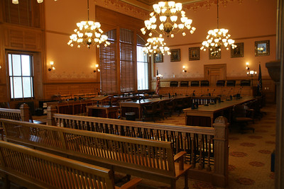 Former Supreme Court room inside Kansas State Capitol