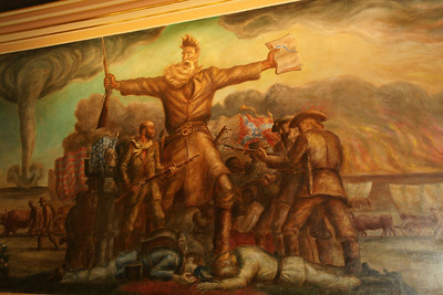 "John Steuart Curry mural ""Tragic Prelude"" inside Kanss State Capitol building"