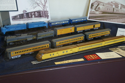Lionel model railroad display inside Great Overland Station