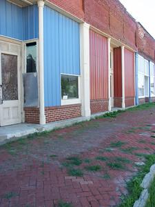 Brick sidewalk in Severy - Greenwood County, Kansas