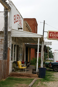 Sidewalk and wood deck at Buster's in Sun City - Barber County, Kansas