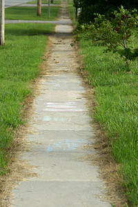 Section of Historic 3 ft wide sidewalk between Franklin and Arma - Franklin County, Kansas
