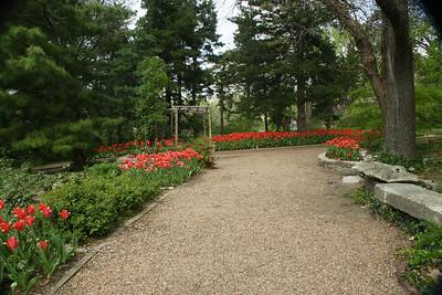 Walkway through the flower gardens. Photo by Larry.