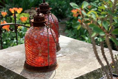 Lamps in garden. Photo by Karen.