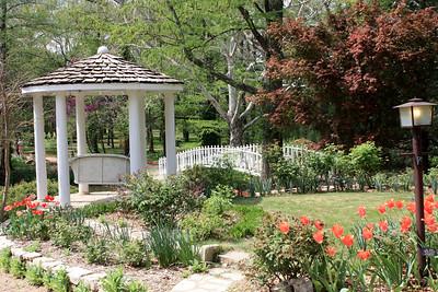 Gazeebo, gardens and bridge. Photo by Karen