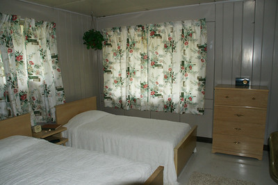Bedroom inside Lustron Home