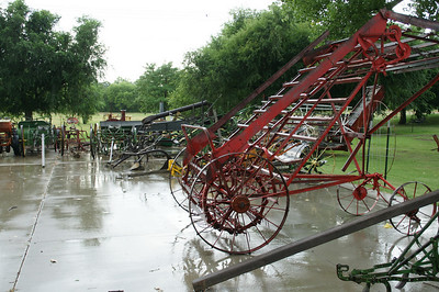 Outdoor display of agricultural machines