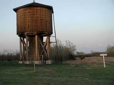 One of a kind Beaumont Frisco wooden water tower