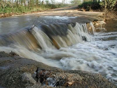 Low water bridge over Durechen Creek near El Dorado Reservoir