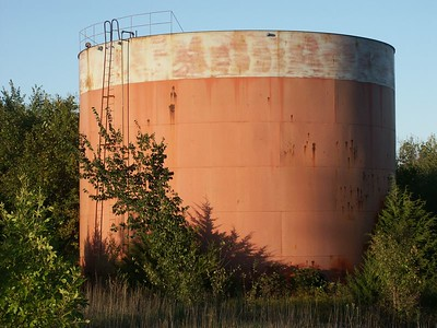 Oil storage tank near Potwin (No longer exists)