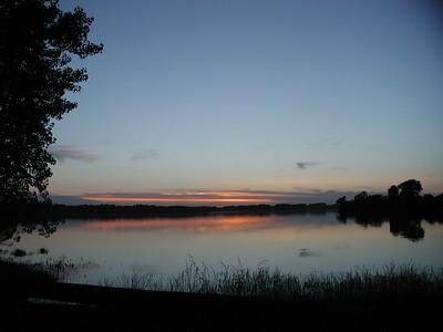 Sunset at Santa Fe Lake