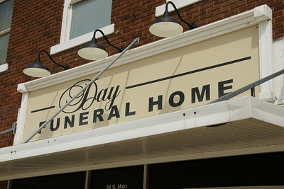 Lighted sign for Day Funeral Home