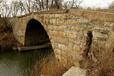 Fromm stone arch bridge over Grouse Creek north of Cambridge