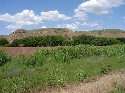 Gyp Hills along River Road northwest of Sun City Kansas