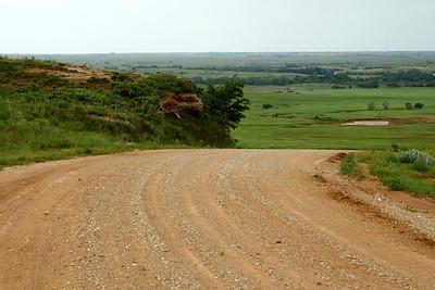 Where does the road go. Aetna Road above Salt Fork Arkansas River valley